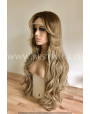 Synthetic lace front wig Wavy Cool-toned ashy highlights