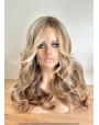 Machine Made Synthetic Wavy Omber Wig