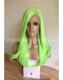 Synthetic lace front wig Stright long hair / Spring Lime