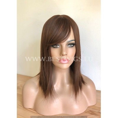 Synthetic Stright Chestnut Wig With Bangs
