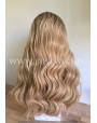Synthetic lace front wig Wavy blond hair