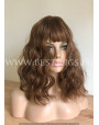 Synthetic Machine-made wig Medium chestnut hair