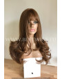 Synthetic wig Stright chestnut long hair with bang