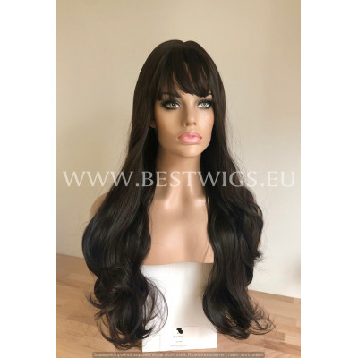 Synthetic wig Stright long hair with bangs
