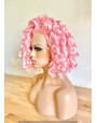 Synthetic Curly Pink Lace Front Wig