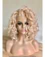 Synthetic lace front wig Wavy pastel blond Milk jam