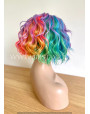 Rainbow Curly Synthetic Lace Front Wig