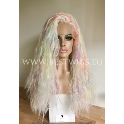 Synthetic lace front wig Curly Blonde long hair EXTRA VOLUME