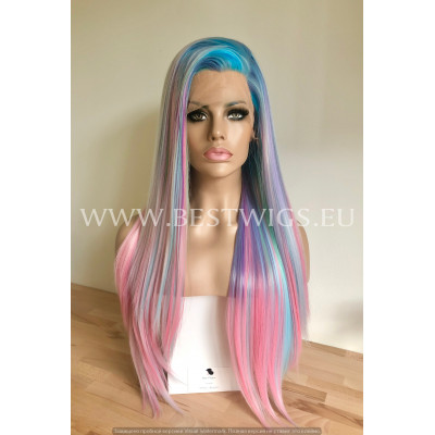 Synthetic lace front wig Straight long hair / 6 dyes / Double volume / Limited edition