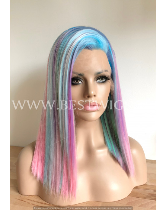 Synthetic lace front wig Straight hair / 6 dyes / Limited edition