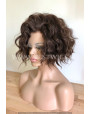 Synthetic lace front wig Wavy Choco short hair / Double volume