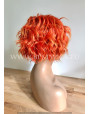 Synthetic lace front wig Wavy short hair Fire Foxy