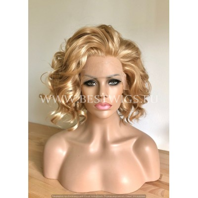 Strawberry Blonde Synthetic Lace Front Wig Beach Waves