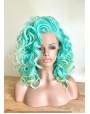 Aqua Green Lace Front Wig Beach Waves