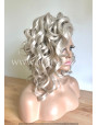 Synthetic lace front wig Wavy Light Ashen Blonde hair