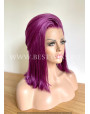 Deep Purple Straight Synthetic Lace Front Wig