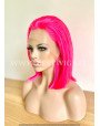 Hot Pink Straight Synthetic Lace Front Wig