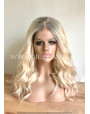 Synthetic lace front wig Wavy blonde rooted hair
