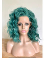 Synthetic lace front wig Curly hair / Green Ice