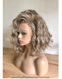 Synthetic lace front wig Wavy Ashen Blonde hair