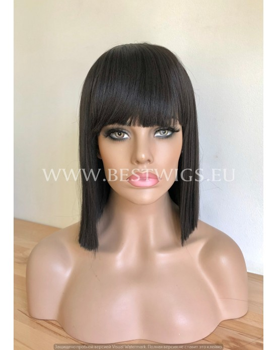Synthetic Wig With Bangs Crazy Horse Style