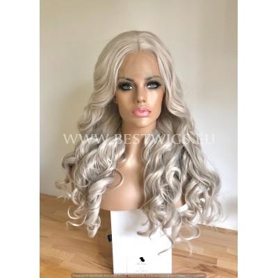 Sylver Blonde Wavy Synthetic Half Lace Wig