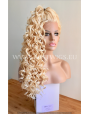 Synthetic lace front wig Curly blond long hair