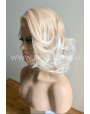 Synthetic lace front wig Wavy blond medium hair