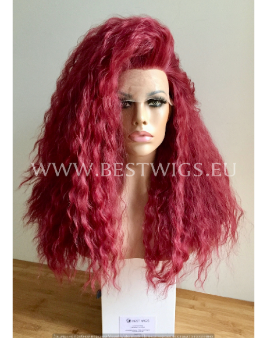 Synthetic lace front wig Curly Red hair EXTRA VOLUME