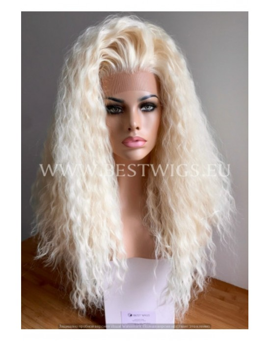Synthetic lace front wig Curly blond long hair EXTRA VOLUME