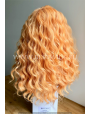 Synthetic lace front wig Wavy Long hair Baby Orange