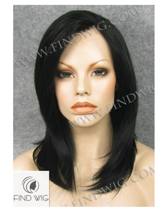 Synthetic laсe front wig Stright brown medium hair