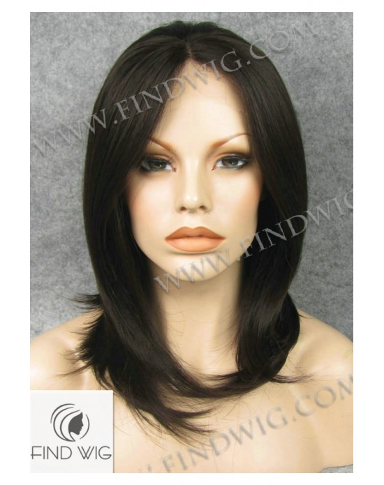 Synthetic lase front wig Stright brown medium hair