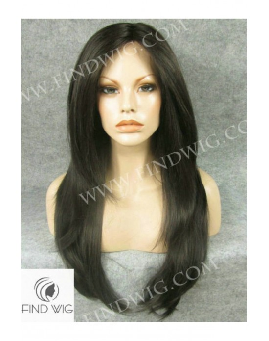 Synthetic lace front wig Stright brown long hair