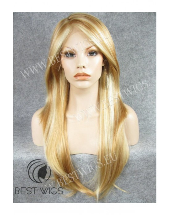 Synthetic lace front wig Stright blonde long hair