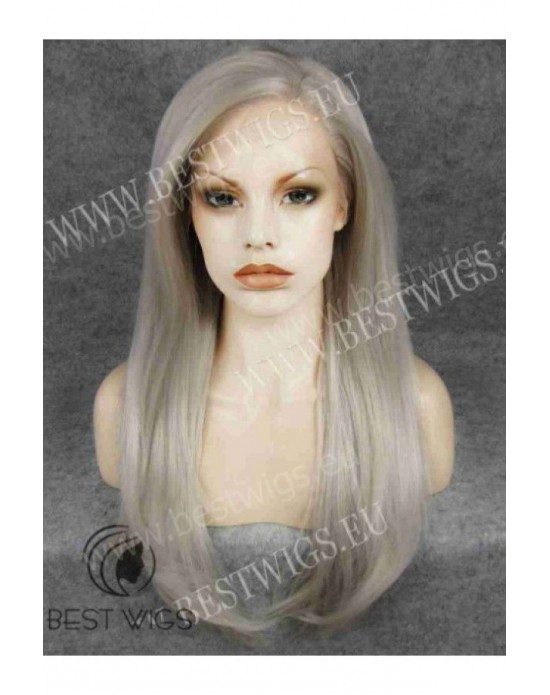 Synthetic lace front wig Stright blond long hair