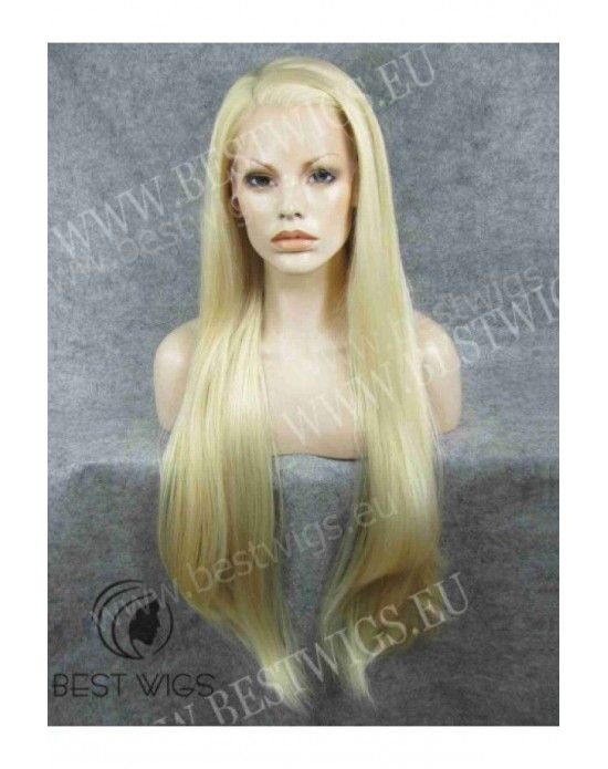 Synthetic lace front wig Stright blond super long hair