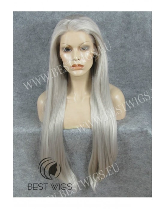 Synthetic lace front wig Stright blond Extra long hair